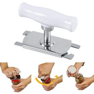 Einstellbare Glas Flaschenöffner Edelstahl Flaschenöffner Professionelle manuelle Dosenöffner Multifunktions Küche Zubehör Werkzeug AAA1407