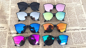 2018 nueva marca de gafas de sol de la aviación de los niños chicas niños gafas de conducción gafas de sol de la película de color gafas de sol al por mayor 25 unids