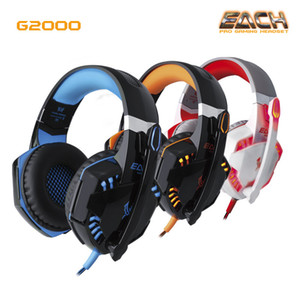 New CADA Stereo G2000 Deep Bass Headphone Rodeado Over-Ear Gaming Headset Headband fone de ouvido com Luz para PC LOL Jogo