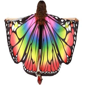 Womail Butterfly Wings scialle sciarpe delle signore Ninfa Pixie Poncho accessori Costume donne sciarpa Feb21
