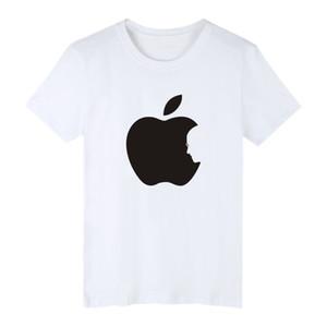 Venta caliente de Apple, Steve Jobs Negro Algodón Tamaño 4XL camisetas de manga corta camisas de los hombres de moda que muerden XXS Manzana divertida de la camiseta del Plus