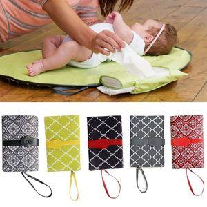 Waterproof Baby Diaper Bags Mummy Tote Bag Portable Foldable Infant Nappy Nursing Bag Changing Change Pad Clutch Mat Handbag