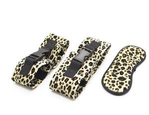 Máscara erótica para manos y pies máscara ocular de tres piezas juguete adulto máscara leopardo estampado en caliente máscara de ojo juguete sexual