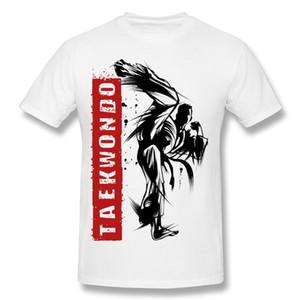 Оптовая Homme 100% хлопок Тхэквондо удар футболки Homme O-образным вырезом синие шорты футболки для продажи S - 6xl Brithday футболки