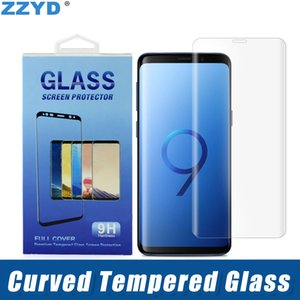 ZZYD For Samsung S8 S8P Note8 S9 S9P Full Cover Curved Glass 3D Curved Screen Protector Case Friendly Tempered Glass With Retail Package