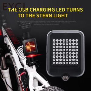 EYCI 64LED 자전거 라이트 자전거 리어 라이트 지능형 자동 유도 안전 USB 충전 회전 신호