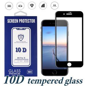 Caso protetor de tela de vidro temperado completa cola completa para iphone novos modelos xs max xr samsung a20 a70 a50 a20e moto g7 poder jogar e5 plus