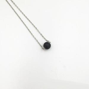 Commercio all'ingrosso Nature Lava Stone Charm Beaded Connector Olio essenziale collana di profumo diffusore Yoga Collana per le donne