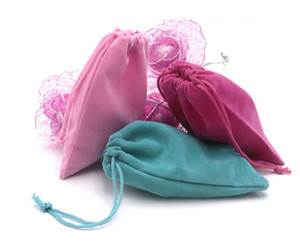 Jewelry Packing Velvet Sacks 9*12cm Drawstring Candy Gift Bag Shoes Storage Shopping Bag Can Custom(more than 10colors)