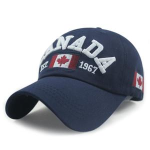 New Arrivals Cotton Gorras Kanada Cap Flagge von Kanada-Hut-Hysterese adjuatable Herren Baseballmütze New Für Erwachsene