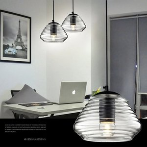 Modern minimalist glass pendant lamps creative personality UFO lights bar cafe living room dining lantern chandeliers