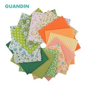 GUANDIN, Planície Impresso Cotton Tecido Patchwork / Fino Baixa Densidade Pano / costura Quilting Material / Fat Quarter50 * 50cm / 14PCS / pack