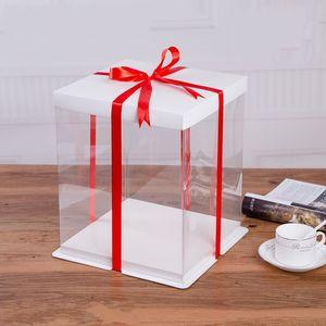 Aumento de estilo europeo en altura Bobbi Birthday Cake Postre Box Embalaje Bolsas de regalo Personalizar Hot Sale 10 5zy bb