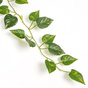 2m Artificial Hiedra Hoja Guirnalda Plantas Vine Fake Follaje Flores Decoración Del Hogar De Plástico Artificial Flor de Ratán Hojas Perennes