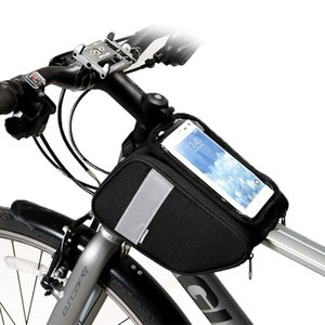 122005 Cycling Bicycle Bike Top Tube Front Frame Phone Holder Case Touch Screen Carry Pouch