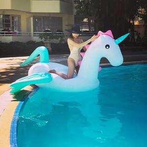 Piscina gigante Piscina Flutua Inflável Anel de Natação Pegasus Flutuante Tubo Adulto Raft Kid Brinquedos Verão Colchão De Água