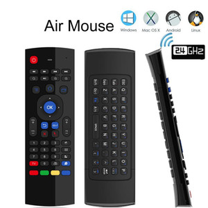 MX3 Air Mouse Backlight MX3 Wireless Keyboard 2.4G IR Learning Fly Mouse Mouse Backlit for Android TV Box Smart TV