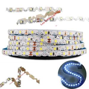 Гибкие светодиодные полосы 12 В, 2835, IP20, S-образные, гибкие, светодиодные, светодиодные, световые полосы, подсветка канала, подсветка 5м / рулон 60LEDs / м