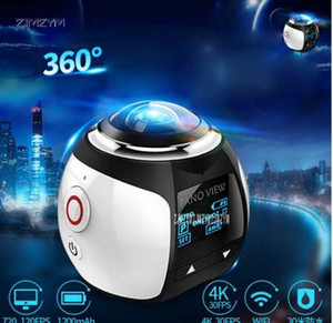 V1 360 Camera Wifi Mini 360 Action Camera 2448 * 2448 Ultra HD Panorama Camera 360 Degree Sport Driving VR كاميرات الويب 5V