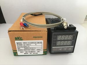 Controlador de temperatura duplo REX-C100 de Digitas RKC PID com termopar de K, saída de relé