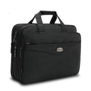 Черный Ткань Оксфорд Бизнес Мужчины Портфель большой емкости Portable Document И Laptop Briefcase Для мужчин Сумки