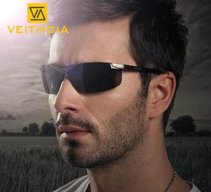 Für Gläser Sport Sonnenbrille Randlose 6501 Fahren Männer Männer Herren Polarisierte Sonnenbrille Rechteck Spiegel VEITHDIA APHON