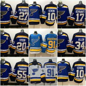 91 فلاديمير تاراسينكو سانت لويس بلوز 17 Jaden Schwartz Jersey 20 Alexander Steen 26 Paul Stastny 27 Alex Pietrangelo Hockey Jerseys