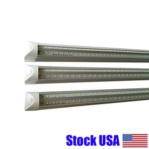 """Stock Aux Etats-Unis + 4FT 5FT 6FT 8FT 65W T8 LED Tube 96"""" Ampoule intégré en V 7200LM Lampes 6000K blanc froid avec couverture à rayures"""
