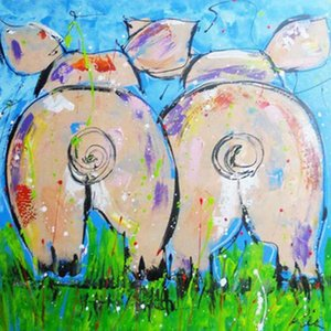 China new hottest diamond painting pig full drill 5d painting kit Full Paste Square Cross Stitch Home Decoration Paintings