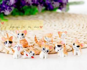 9 / Set Sweet House cat baby cheese القط مجموعة من 9 دمى لعقد الملحقات الكرتون الإبداعية