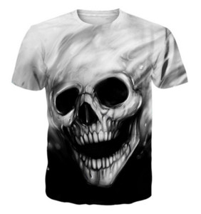 New Fashion 3D T-shirt Casual Skull Trendsetter Men and Women Tops Short Sleeve Creative Printed Tees ZC05