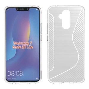 Samsung galaxy note 9 j8 2018 için 1.3mm zırh case kapak huawei nova 3 honor oyna karbon geri funda kapak köşe darbeye dayanıklı silikon tpu case