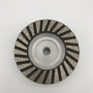 Aluminum Turbo Cup Wheel 4 inch (100 mm) Silent Core Single Row Cups for Granite Coarse Grinding Wheel Thread M14