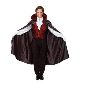 2018 Adults Devil Vampire Costume Man Stage Performance Show Cosplay Costume Halloween Masquerade Party Supplies Purim