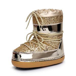 Women space Stivali e stivali per le ragazze invernali Lace to peluche caldi Per le donne stivali invernali Bootillions Casual donna Occhiali da sole scarpe. WH54