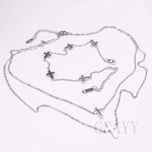 Haç Charm Kadınlar Paslanmaz Çelik Link Zinciri Gerdanlık kolye Bilezik Kişiselleştirilmiş sipariş Danışmanlık Welcome to.