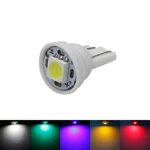 T10 W5W 5050 1 SMD LED Lamp 194 168 Auto Car Side Wedge Side Marker Las luces de lectura indican las bombillas 12V 5-Colors