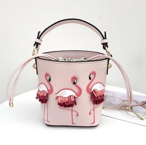 Mode Chaude Nouveau Design 3D Flamingo Pippa Satchel Sac Bandoulière pour Femmes Rose Blanc Couleur Sacs