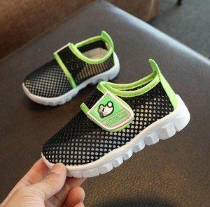 2018 verão nova bebê 19-30 das crianças calçado desportivo sapatos líquidas meninos casuais apartamentos meninas sapatos respirável única malha caçoa as sapatilhas