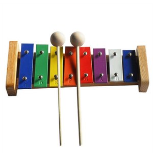 New Multi-Colored 8 Keys Xylophone 2 Wooden Mallets For Children Kids Toy Educational Music learning toy