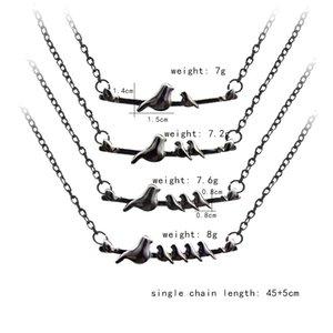 Mutter und Sohn Mama Vogel Halskette Legierung Halsreifen Liebe Modeschmuck Mutter Tag Geschenk für Frauen Gilrs