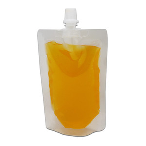 واضح البلاستيك دوق-جيلي السائل التعبئة صنبور حقيبة شفافة الوقوف شرب النبيذ الخالي pe بولي حزمة جيب حقيبة التجزئة