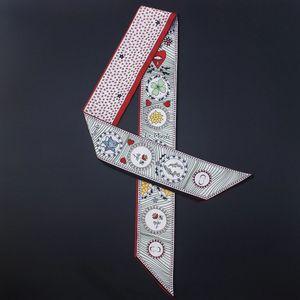 10pcs / lot La serie di tarocchi doppia stampa twill delle donne della sciarpa bella decorazione piccolo nastro borsa / capelli / collo / polso nastro mix inviare!