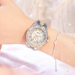 Minoristas en línea Babysbreath Cinturón de acero Reloj de pulsera de tres ojos Medidor de perforación Reloj de pulsera de señora En stock A911