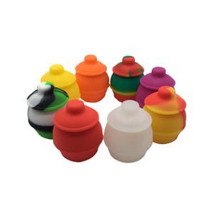1 Parça Bal Pot Silikon Konteyner BHO Yağ Bütan Buharlaştırıcı Silikon Kavanozlar Dab Wax Konteyner Yeni