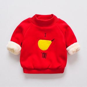 BibiCola 2018 novo inverno Marca Crianças de algodão grosso hoodies Moletons baby girls outerwear dos desenhos animados hoodies casaco casaco quente