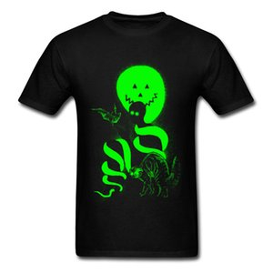 Halloween Mysterious Sprite Green Tshirt Men Horror Ghost Film T Shirts For Youth Man Newest Design Digital Print Tee Shirt