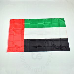 Emiratos Árabes Unidos UAE bandera nacional gratuito 3x5 envío FT / 90 * 150cm Colgando de la bandera nacional de los Emiratos Árabes Unidos la decoración del hogar bandera de la bandera