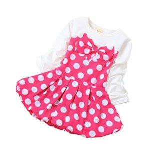 BibiCola Nouveau Printemps Été Bébé Robe Fille Robes Polka Dot Filles Vêtements Robe De Fête Princesse D'anniversaire Robe pour Bébé Fille