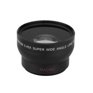 Obiettivo grandangolare 0,45x 37MM con attacco obiettivo macro per fotocamere Canon Nikon D70 D80 D90 D800 D600 D7000 D550 D3300 D3200 Canon